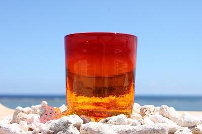 琉球ガラス オレンジ